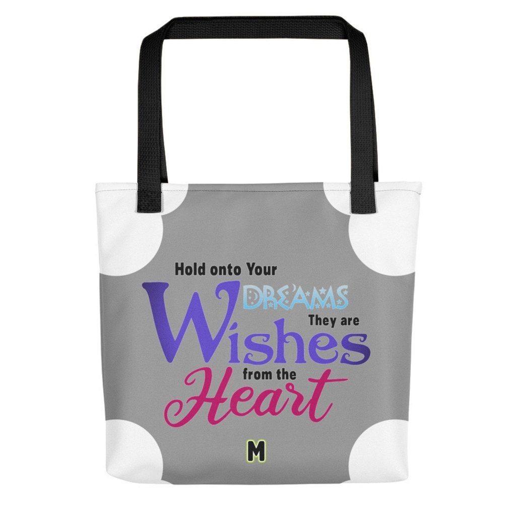 Tote bag Dreams are wishes