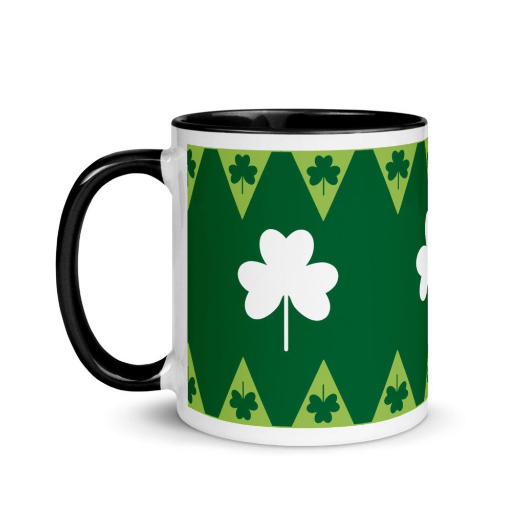 Mug with color inside shamrock